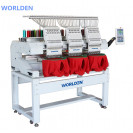 Worlden WD-1203C A15 - Промышленная трёхголовая 12ти игольная вышивальная машина, с полем вышивки 1350x400 мм