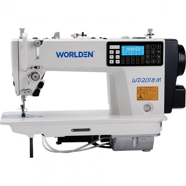 Прямострочная промышленная машина с прямым сервоприводом и автоматикой, легкие и средние ткани Worlden WD-2018M на 5 мм