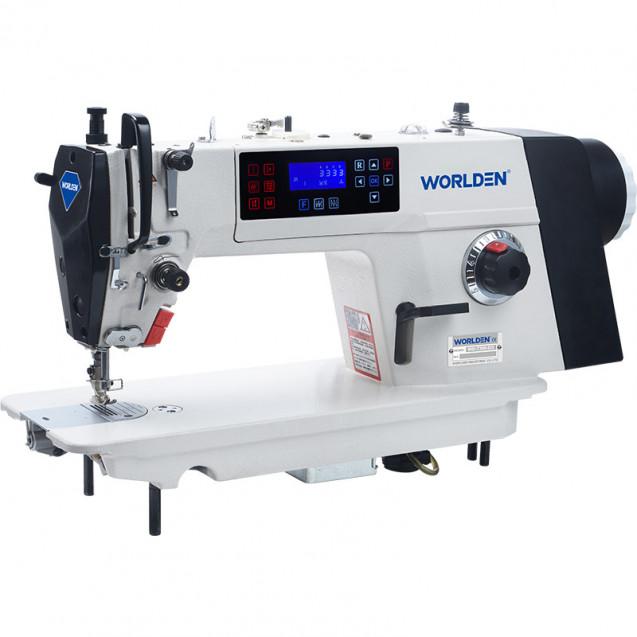 Прямострочная промышленная машина с прямым сервоприводом и автоматикой, легкие и средние ткани Worlden WD-7300D4 на 5 мм