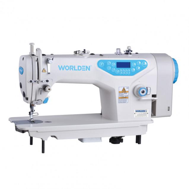 Прямострочная промышленная машина с прямым сервоприводом и автоматикой, легкие и средние ткани Worlden WD-A5H на 7 м