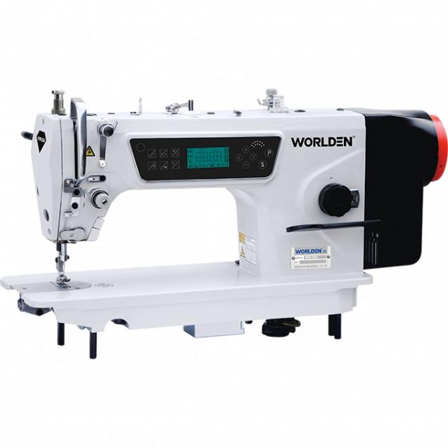 Прямострочная промышленная машина с прямым сервоприводом и автоматикой, легкие и средние ткани Worlden WD-W4H на 7 мм