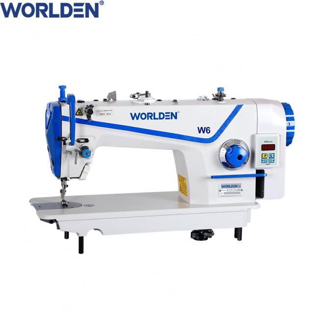 Прямострочная промышленная машина с прямым сервомотором, легкие и средние ткани на 7 мм Worlden WD-W6H