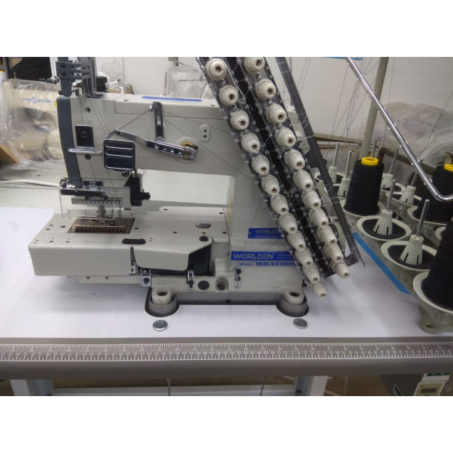 12-ти игольная 24-х ниточная машина цепного стежка с прямым сервоприводом Worlden WD-12064P D