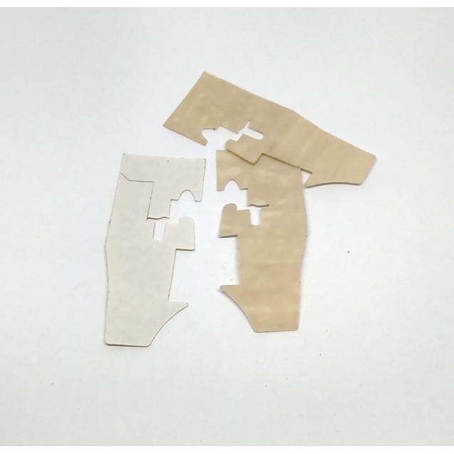 Тефлоновая подошва лапки для промышленного оверлока 757D (наклейка)