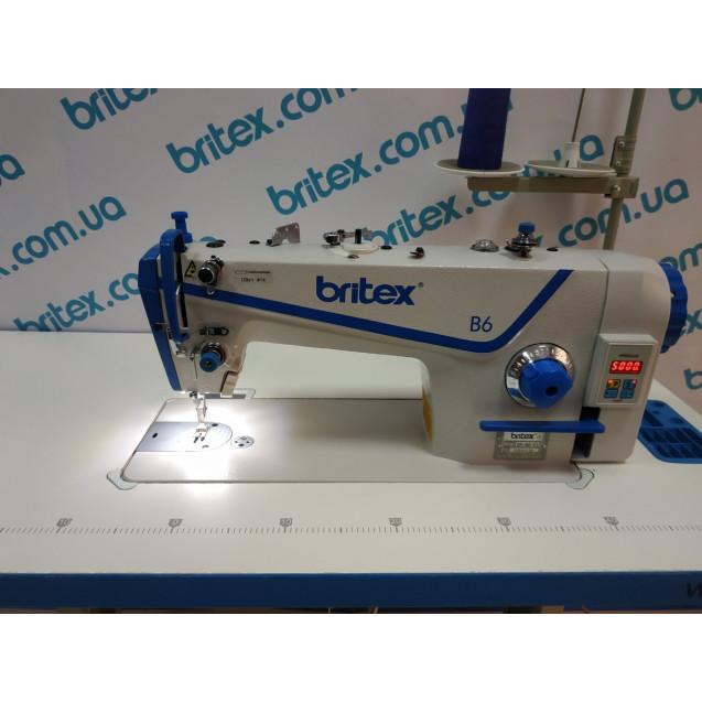 Прямострочная промышленная швейная машина с прямым сервоприводом, средние и тяжелые ткани Britex-B6 H на 5 мм