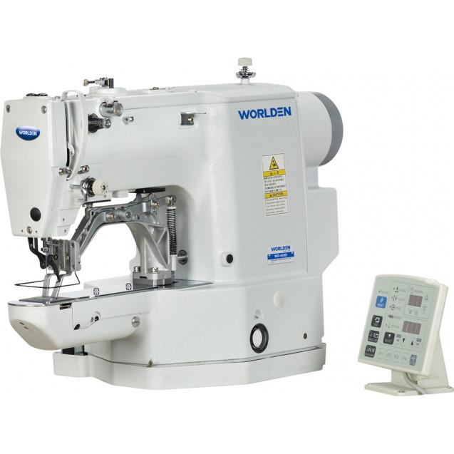 Закрепочная промышленная швейная машина с прямым сервоприводом Worlden WD-430D-02